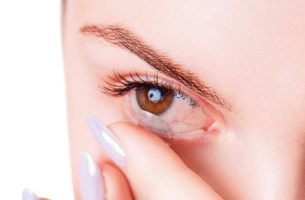 Dry eye caused due to contact lenses